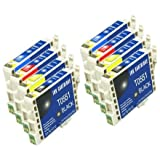 8x T0555 FCI Compatible Ink Cartridges to replace Epson T0555 (Contains: 2x T0551, 2x T0552, 2x T0553, 2x T0554)by First Call Inks