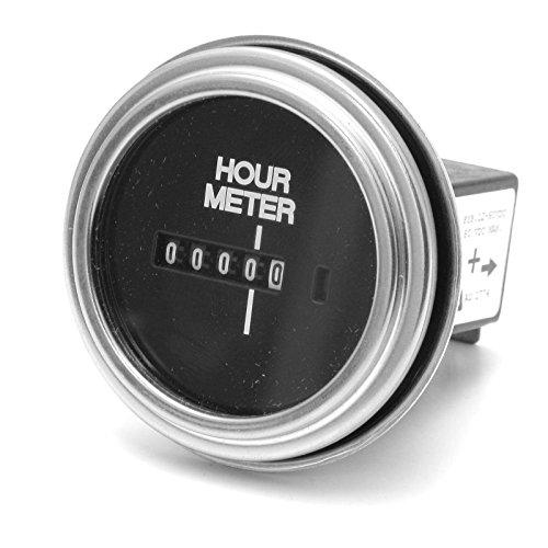 2 Round 12 Volt Hour Meter : Teleflex hobbs hour meter inch round dc engine