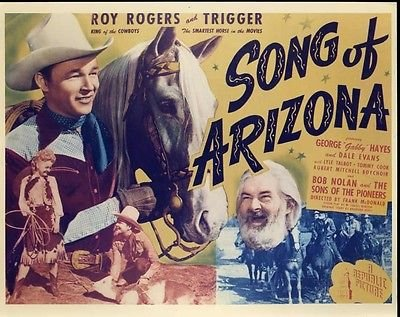 Song Of Arizona Film Poster Starring Roy Rogers and Gabby Hayes