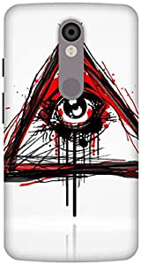 The Racoon Lean Doodler hard plastic printed back case / cover for Motorola Moto X Force
