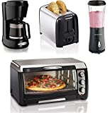 Bundle of Kitchen Appliances 4 in 1 Box Hamilton Beach Toaster, Blender, Coffee Maker & Convection Toaster Oven