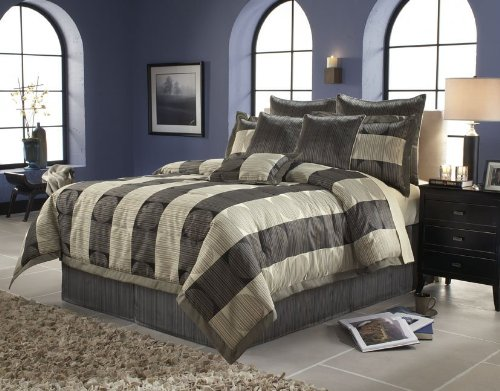 Discount Cal King Size Comforter Set 14 Piece Set In