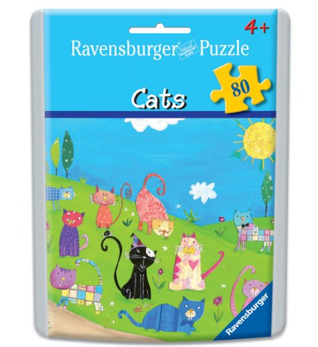 Cats Puzzle in an Easy-Seal Pouch, 80-Piece