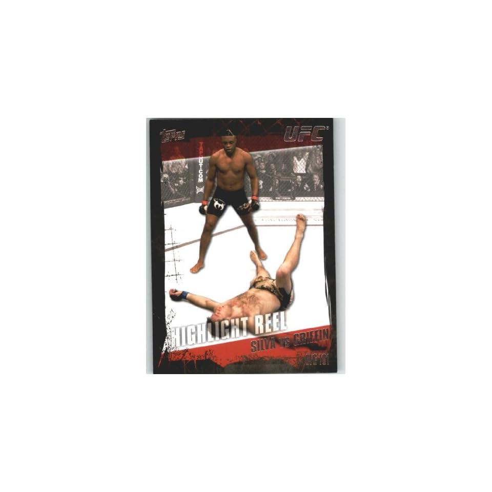 2010 Topps UFC Trading Card # 188 Anderson Silva vsForrest