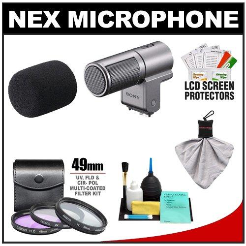 Sony Alpha ECM-SST1 Stereo Microphone with 3 Filter Set + Cleaning Kit for 3, 5, NEX-F3, NEX-C3, NEX-5N & NEX-5R Cameras