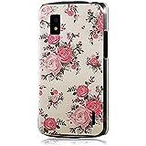 YOKIRIN Pink Blume Weiß Bemalt PC Plastik Hart Cover Hardcase Schutzhülle für LG Google Nexus 4 E960Transparent Handyhülle Backcover Harte Rückseite