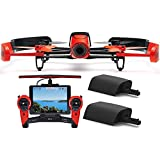 Parrot BeBop Drone 14 MP 1080p Fisheye Camera with Skycontroller + Battery Bundle (Red)