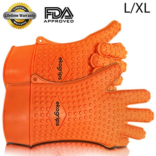 Check Out This Ekogrips Silicone BBQ Gloves L/XL - 1 Pair Original Heat Resistant Ekogrips - 3 Sizes...