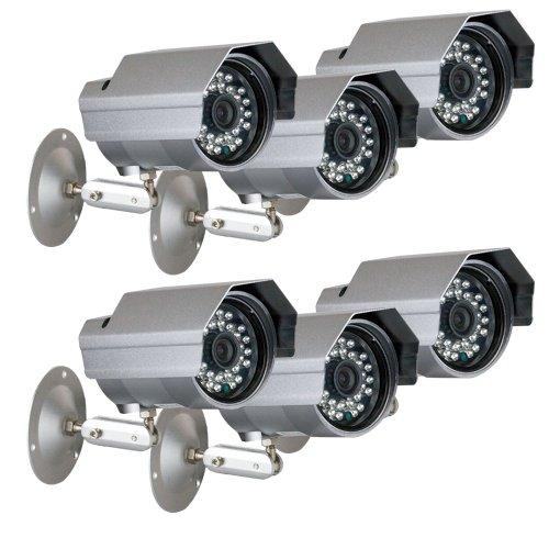 "Gw 6 X Professional 1/3"" Panasonic Ccd Outdoor Camera, 3.6Mm Lens, 700 Tv Lines, 30Pcs Ir Led, 82 Feet Ir Distance. Vandal Proof & Water Proof"