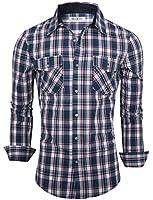 Tom's Ware Chemises-Boutonne a manches longues a carreaux-Hommes