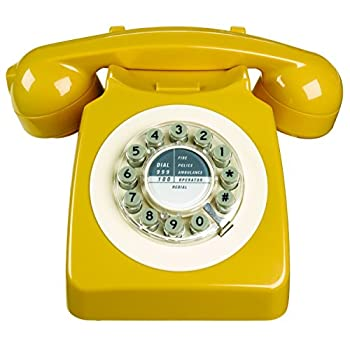 Wild & Wolf Vintage Design 746 Replica Phone English Mustard