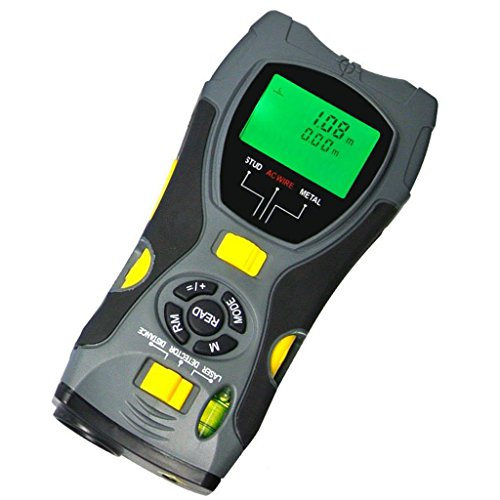Generic 5 in 1 Distance Meter Stud Metal Live Wire Detector and Laser Marker