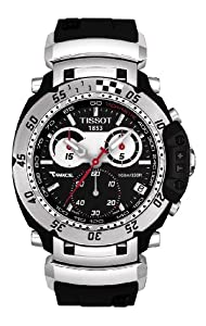 Tissot Men's T0274171705100 T-Race Moto Black Stainless Steel Watch