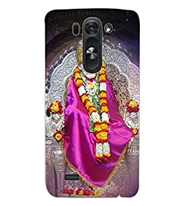 ColourCraft Lord Sai Baba Design Back Case Cover for LG G3 BEAT