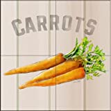 The Tile Mural Store - Carrots by Lori Schory - Kitchen Backsplash / Bathroom wall Tile Mural