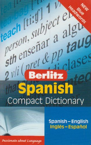 Spanish Berlitz Compact Dictionary (Berlitz Compact Dictionaries) (English and Spanish Edition)