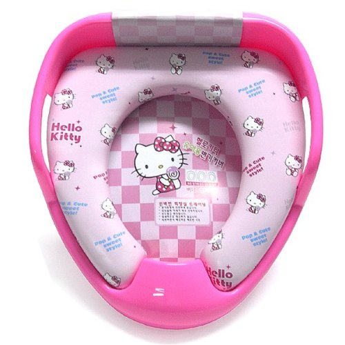 Hello Kitty Combined Potty Training Seat Cover Bidet Toilet Chair for Child Baby