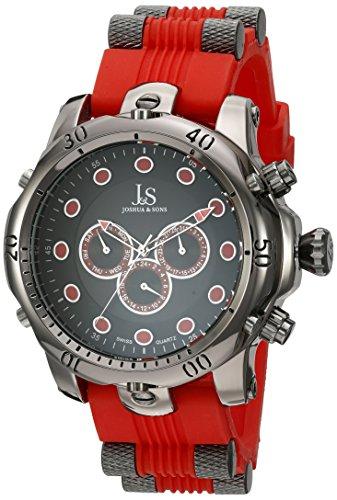 Joshua & Sons JS71RD - Reloj de cuarzo para hombres, color rojo