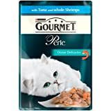 Purina Gourmet Perle Ocean Delicacies with Tuna and Whole Shrimps Wet Cat Food 24 x 85 g