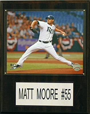MLB Tampa Bay Rays Matt Moore Player Plaque