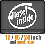 Diesel inside in four sizes ! JDM Decal Sticker Venyl Racing DUB Die Cut