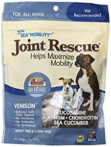 PIE TREATS 326054 Sea Mobility Venison Jerky Strips for Pets, 9-Ounce
