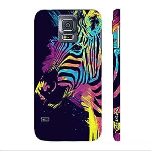 Samsung Galaxy S5 Holi Zebra designer mobile hard shell case by Enthopia