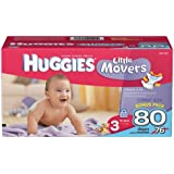 Huggies Little Movers Diapers, Size 3, 80 Count (Packaging May Vary)