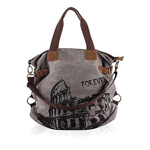 Borsa a tracolla unisex Vintage Shopper borsa zaino viaggio Canvas Shoulder Bag signore sacchetti messaggero della borsa