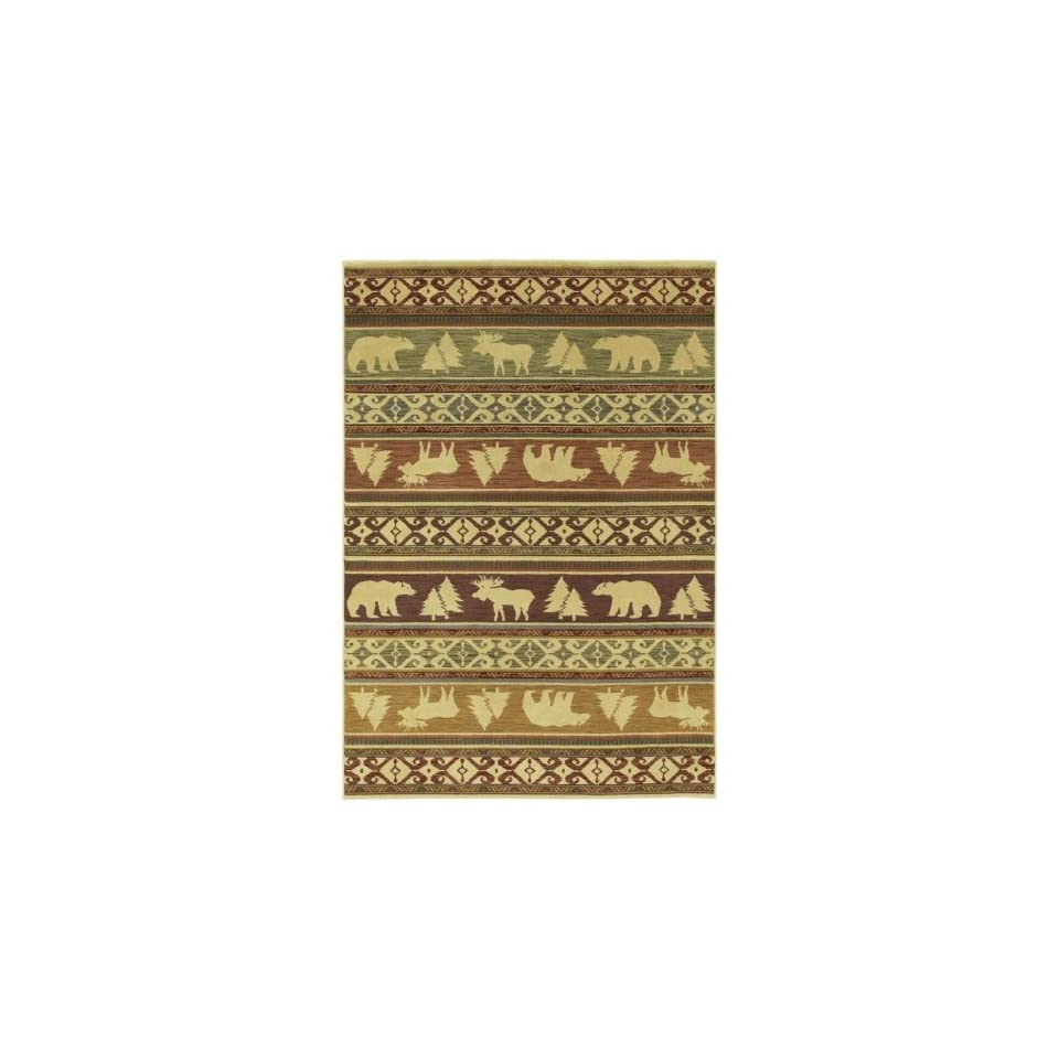 Shaw Area Rugs Phillip Crowe Timber Creek Rug Canyon Trail Light Multi 03110 78X1010 Rect