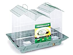 Prevue Pet Products Clean Life Triple Roof Cage, Green and White