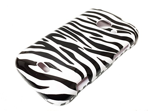 For ZTE Z667 Zinger Prelude 2 Whirl 2 Z667G Hard Phone Cover Hard Faceplate Case Accessories + Happy Face Phone Dust Plug (Zebra Design) (Phone Cases For Model Z667g compare prices)