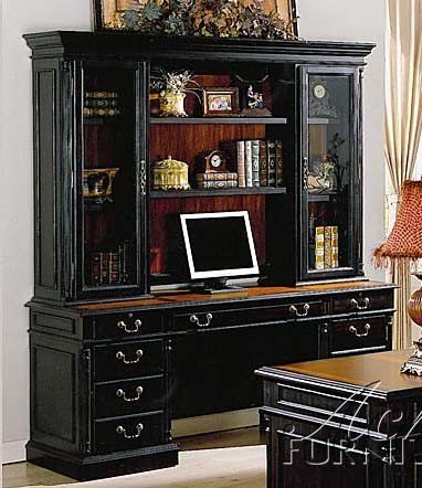 Buy Low Price Comfortable Home Office Computer Desk with Hutch Espresso Finish (B002NA2ROM)