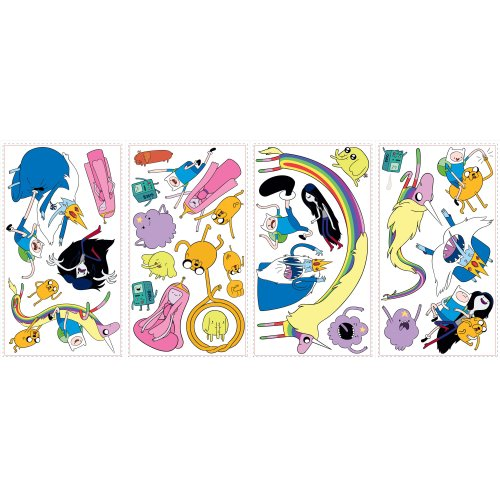 Roommates Rmk2259Scs Adventure Time Peel And Stick Wall Decals - 1