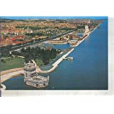 Postal 014099: Vista general con la torre de Belen en primer plano en Lisboa, Portugal