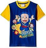 Ninja Hattori Boys' T-Shirt (HST-2134_Blue_4 - 5 years)