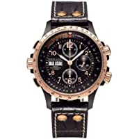 Hamilton Black Stainless Steel and Rose Gold Plated Men's Watch