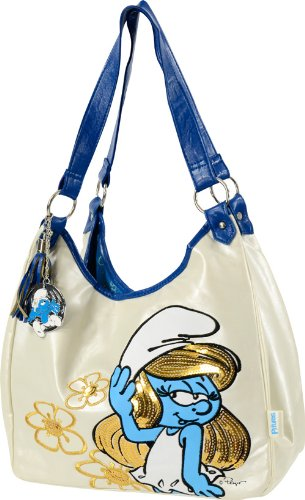 united-labels-0807594-borsa-donna-fashion-puffetta-puffi-con-pendolo-puffi-bianca-e-blue-dettagli-in
