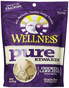 Wellness Grain-Free Treats for Dogs, Pure Rewards Chicken and Lamb, 6-Ounce Pouch