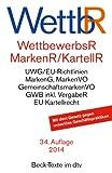 Wettbewerbsrecht, Markenrecht und Kartellrecht: Gesetz gegen den unlauteren Wettbewerb, Preisangabenverordnung, Markengesetz, Markenverordnung, ... Vorschriften der Europäischen Union
