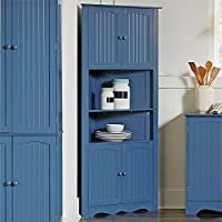Brylanehome Country Kitchen Corner Cabinet (Blue / Green)