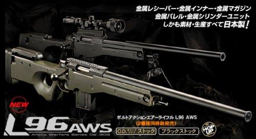 L96AWS ブラックストック ボルトアクションエアーライフル