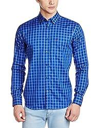 Park Avenue Men's Casual Shirt (8907251113676_PCSX00846-B7_42_Dark Blue)