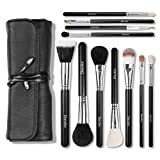 Docolor 11Pcs Makeup Brushes Set Goat Hairs Foundation Eyeshadow Kits with Cases