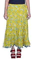 Pezzava Beautiful Cotton Printed Yellow M.Skirt
