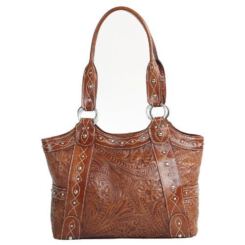 american-west-carved-over-the-rainbow-ladies-fashion-tote-shoulder-bag-purse-tan-by-american-west