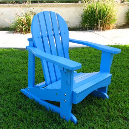 Kids Adirondack Chair Rocker In BlueKids Adirondack Chair Rocker In Blue