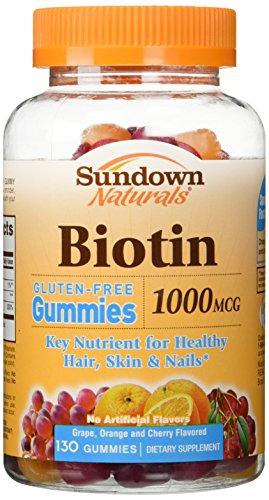 Sundown Naturals Biotin 1000 mcg, 130 Gummies (Sundown Vitamin C 1000 compare prices)