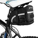 BV(ビーブイ)自転車用ストラップ式サドルバッグ/シートバッグ ブラック