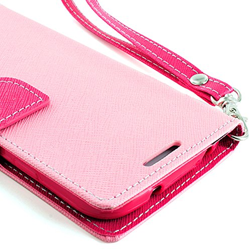 Mylife (Tm) Light Pink And Pink {Classic Design} Faux Leather (Card, Cash And Id Holder + Magnetic Closing) Slim Wallet For The All-New Htc One M8 Android Smartphone - Aka, 2Nd Gen Htc One (External Textured Synthetic Leather With Magnetic Clip + Internal